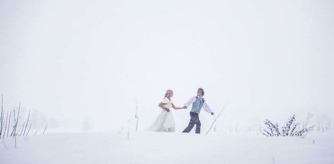 This couple's wedding was interrupted by the 'Beast from the East' snowstorm 3