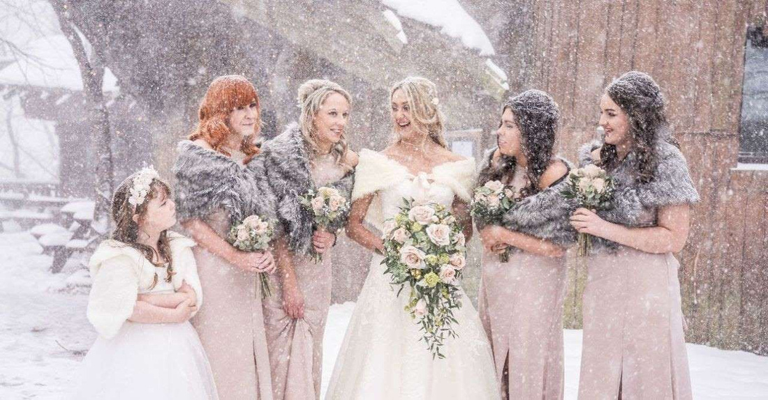 This couple's wedding was interrupted by the 'Beast from the East' snowstorm 2