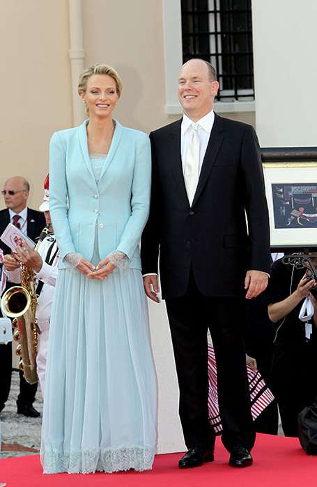 Charlene looking nothing short of princess-perfect. In a beautifully cut sky-blue suit that oozed understated glamour, Charlene was radiant as she made her first appearance as a royal on the palace ba