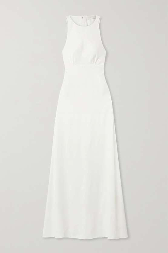 If it is simple elegance you are after, you won't beat this sleeveless Vanessa Cocchiaro dress at Net a Porter. Completely fuss-free, this is a great option for the minimalist bride 385