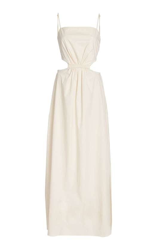 Whether its a beachside wedding or somewhere in the city, this Johanna Ortiz dress with cut-out detail would be lovely for any summer nuptials at Moda Operandi 950